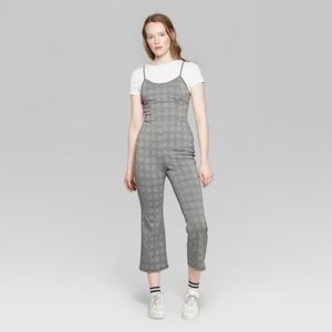 NWT Plaid Strappy Jumpsuit - Wild Fable